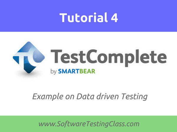 Example on Data driven Testing