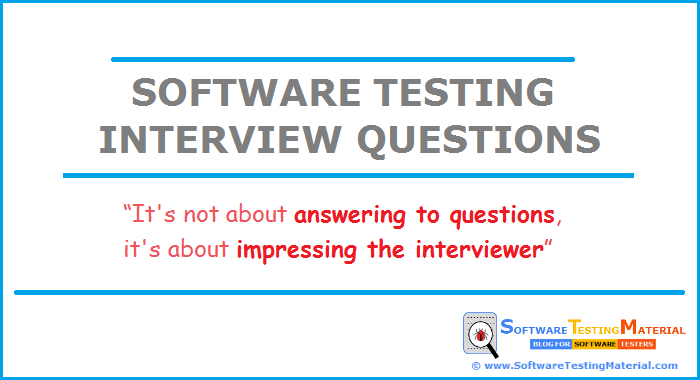 top 100 software testing interview questions answers software rh softwaretestingmaterial com Software Testing Tools interview question for manual software testing