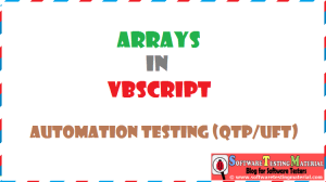 Arrays VBScript | Automation Testing QTP/UFT