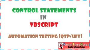 Control Statements VBScript | Automation Testing QTP/UFT