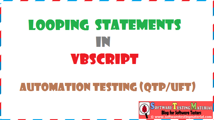 Looping Statements VBScript | Automation Testing QTP/UFT
