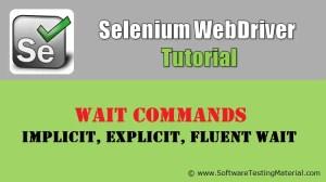Selenium Wait Commands – Implicit, Explicit, Fluent Waits   Selenium WebDriver Tutorial