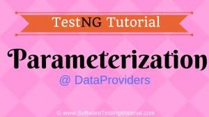 TestNG Parameterization Using DataProviders | TestNG Tutorial