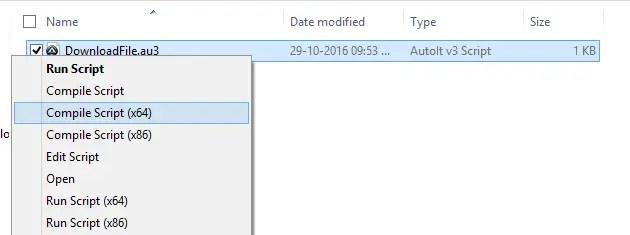 DownloadFile Compile Autoit