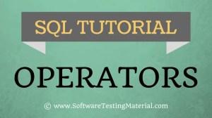 SQL Operators – SQL Tutorial | Software Testing Material