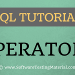 SQL Operators – SQL Tutorial | Software Testing Material