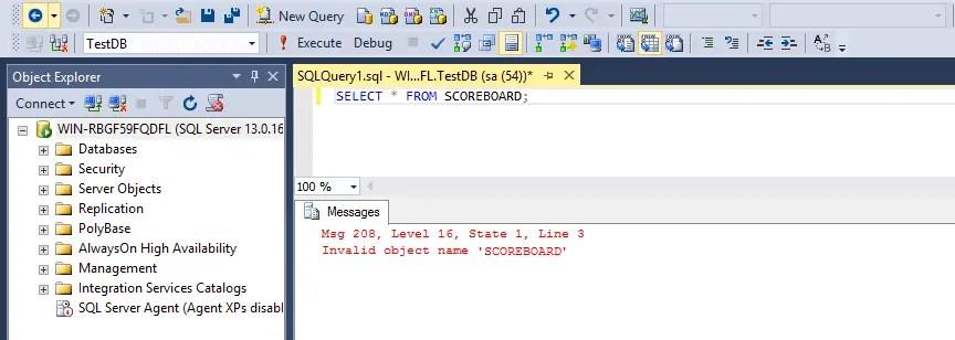 SQL Drop