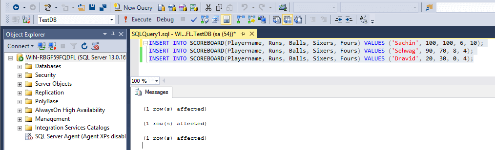 SQL Insert