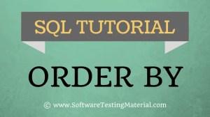 SQL ORDER BY keyword – SQL TUTORIAL | Software Testing Material