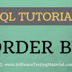 SQL ORDER BY keyword – SQL TUTORIAL | Software Testing Material