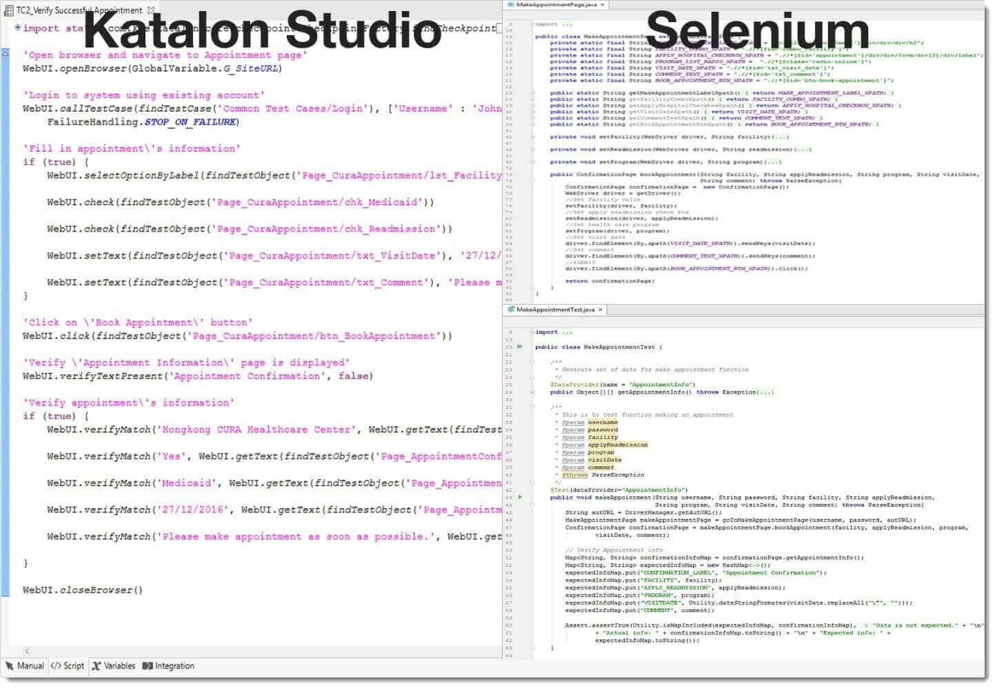 Katalon Studio Vs Selenium