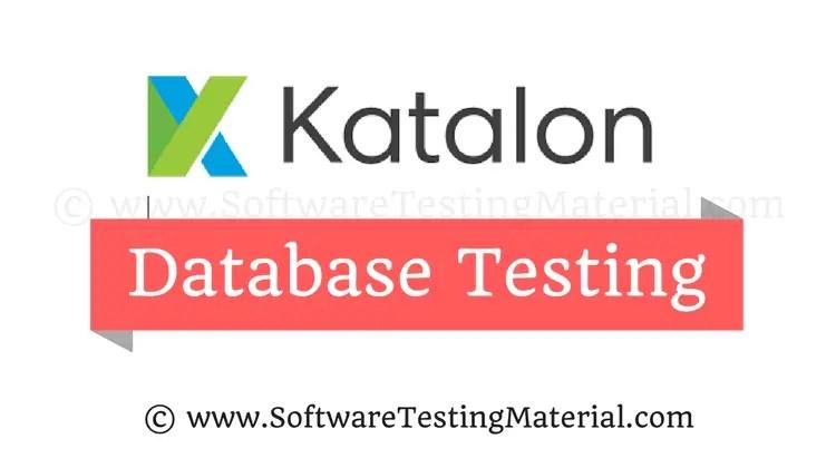 Perform Database Testing Using Katalon Studio