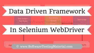 Data Driven Framework in Selenium WebDriver | Software Testing Material