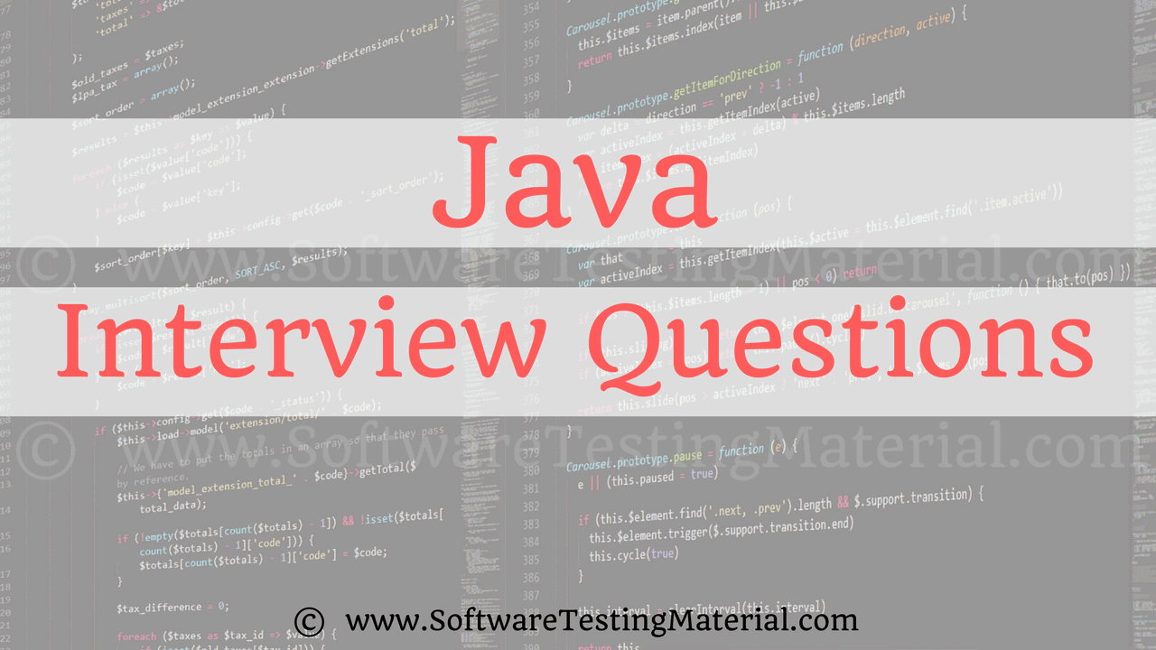 Java interview Questions And Answers | Software Testing Material