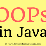 OOPS Concept in Java