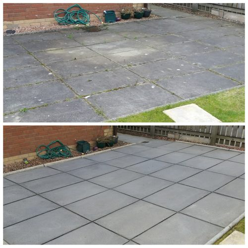 Mono block driveway slab patio area 39 s cleaning bathgate for Cleaning concrete patio slabs