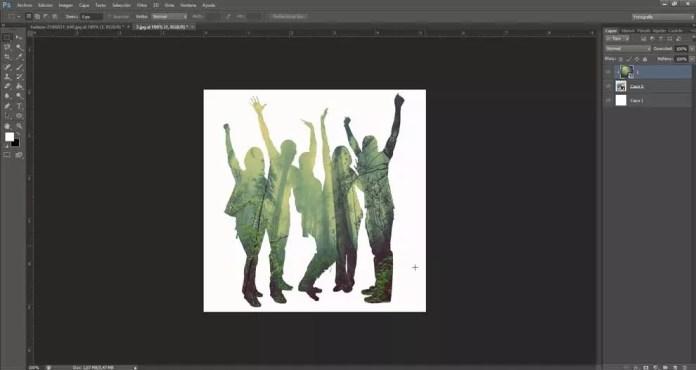 Created double exposure effect
