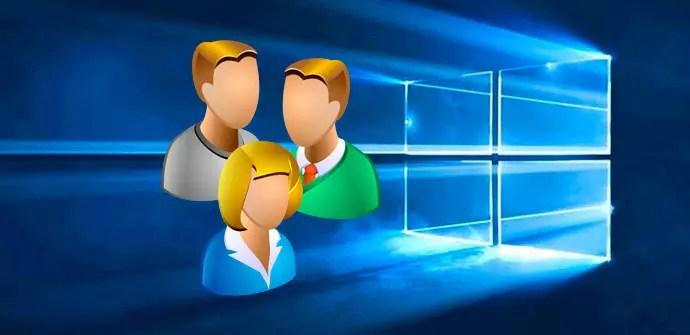 cuentas usuarios windows 10
