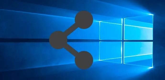 ajustes recursos compartidos Windows 10