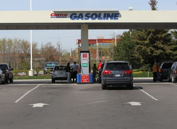 CI-GAS10 *NOTE* No pics allowed on Costco property* As of this morning, lineups at the Costco gas station on Queensway Blvd., Etobicoke is non existent. Price for regular gas is $1.33 but you have to be a Costco member. Workers here said the station was packed with customers yesterday. May 10, 2011 BERNARD WEIL/TORONTO