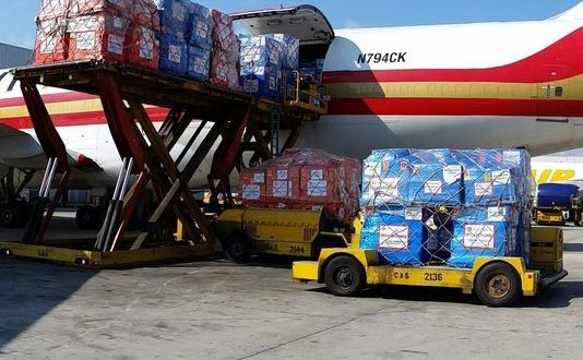 100 tons of supplies to fight Ebola sent to West Africa