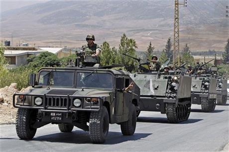 Iran to help Lebanon army fight extremists