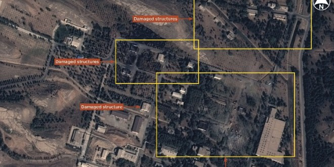 Satellite imagery shows Parchin explosion aftermath