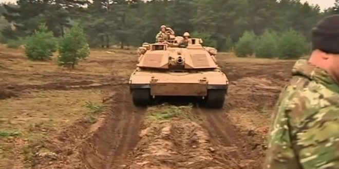 U.S. sends 'Ironhorse' tanks to NATO's nervous Baltic front line