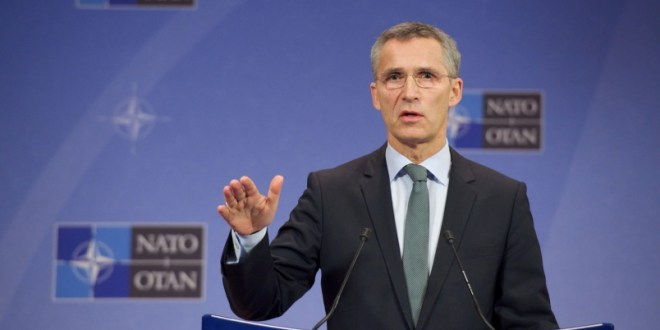 NATO chief rejects Russian veto on membership of former Soviet states