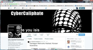 CENTCOM's Twitter, YouTube Feeds Hacked by ISIS Supporters
