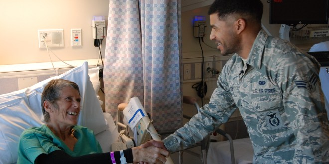 Following his training, Airman assists injured skier