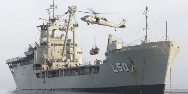 RAN amphibious ship, MRH90 helicopter arrive in Vanuatu for cyclone relief efforts