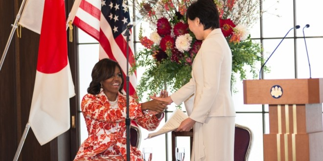 Michelle Obama visits Japan to showcase girls' education aid