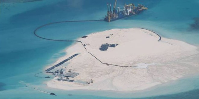 U.S. Navy alarmed at Beijing's 'Great Wall of sand' in South China Sea