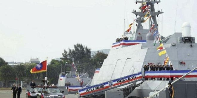 Taiwan commissions first-in-class missile corvette, combat support ship