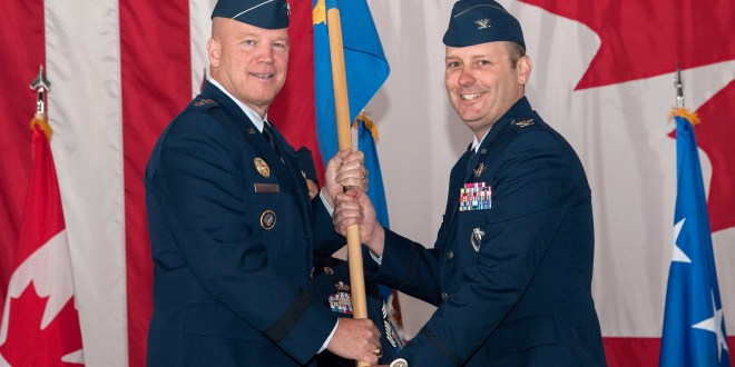 Guidon passed as 21st Space Wing changes command
