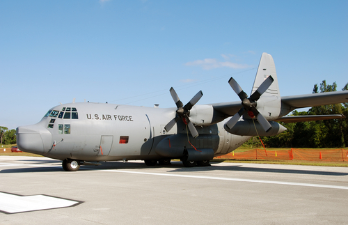 LRAFB C-130Js flex muscle at exercise