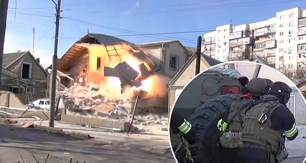 Video: Russian special forces completely destroy house during shoot-out – Telegraph