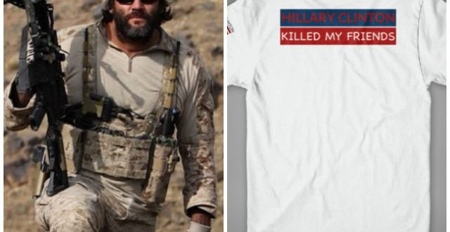 Former Navy SEAL Tej Gill Explains 'Hillary Clinton Killed My Friends' T-shirts – Breitbart