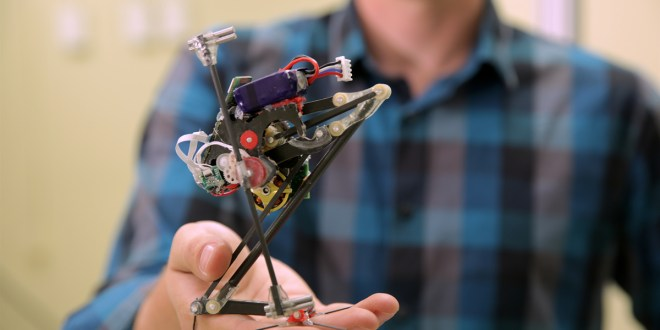 Wall-jumping robot is most vertically agile ever built | ScienceDaily