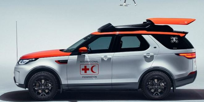 Bespoke Land Rover Discovery launches a search drone from its roof | New Atlas
