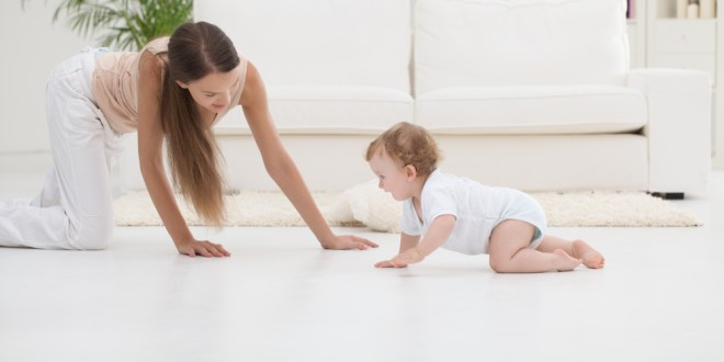 Babies stir up clouds of bio-gunk when they crawl   Science Daily