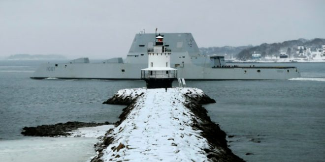 Bath-built 'stealth' destroyer named for Medal of Honor recipient to be commissioned in San Diego | Bangor Daily News