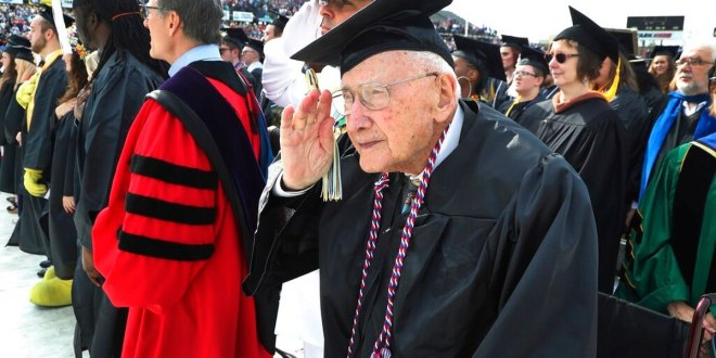 His degree delayed by seven decades, World War II vet who finally graduated dies | Navy Times