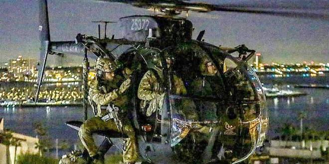 You Have To See This Crazy Photo Of A Night Stalker MH-6 Dropping Commandos On Long Beach | The Drive