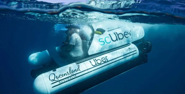 Uber Is Now Offering On-demand Submarine Service at the Great Barrier Reef | Travel and Leisure