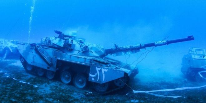 Jordan unveils underwater museum of military vehicles | BBC