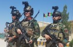 Afghanistan Special Forces soldiers standing with special equipment