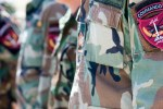 Afghan Special Forces. Up close picture of a Afghan Special Forces soldier's uniform and commando patch.