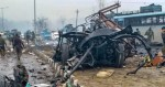 Picture of damage from Pulwama attack